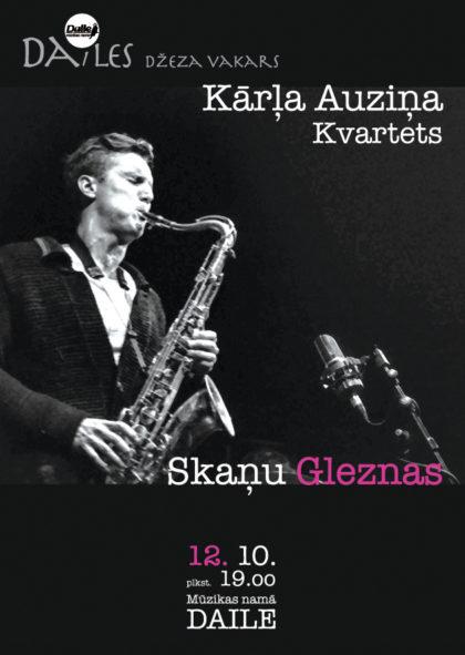 Dailes Džeza vakarā, 12. oktobrī viesosies saksofonists Kārlis Auziņš un kvartets